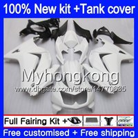 + Tanque Para KAWASAKI ZX250R EX250 08 09 2010 2011 2012 201MY.108 EX 250 ZX 250R EX250 ZX250R EX250R 2008 2009 10 11 12 Glossy Fairing Branco