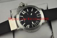 최고 품질 시코 (55) U-1001로 돌아 가기 스테인레스 스틸 블루 블랙 다이얼 블랙 고무 남성 자동 스포츠 시계 남성 손목 시계 투명