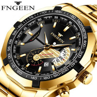 2020 New Mens Golden Watches Waterproof Luminous Steel Top B...