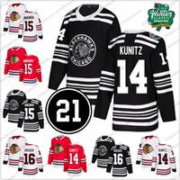 e37bd7caf Chicago Blackhawks  14 Chris Kunitz 15 Artem Anisimov 16 Marcus Kruger 17  Dylan Strome Stitched Ice Hockey Jersey S-3XL