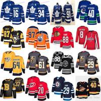 Toronto Maple Leafs 91 Tavares 34 Matthew 16 Marner Vegas Golden Knights 61 Mark Stone Edmonton Oilers 97 Connor McDavid Hockey Jerseys