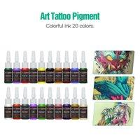 Completa del tatuaggio del principiante del corredo 20 degli inchiostri di colore Mini Tattoo Supplies Tattoo Alimentazione economico Kit Set Grip Needles punte calde