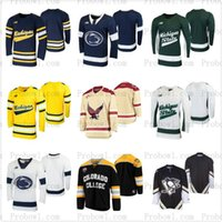 Yale Bulldogs Detroit Red Hockey Arizona State Sun Devils du Maine ours noir Mr. Plow Ohio State Buckeyes Jersey Hommes Penguin