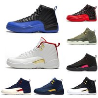 NIKE AIR JORDAN RETRO 12 2019 Gym Red 12 XII 12s chaussures de basket-ball Graduation Pack International Flight Michigan TAXI Jeu de grippe hommes baskets de sport