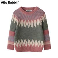 Aile Coniglio autunno e l'inverno caldo abbigliamento a maniche lunghe ragazzi e ragazze maglione dei bambini di moda nuovo anno cime nuovo amore