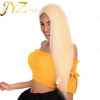 Naturel droite 613 Blonde de dentelle perruques avant de dentelle perruque de cheveux humains 100% brésilien Non traité malaisienne péruvienne indien pour les femmes noires