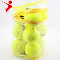 12 قطعة / الوحدة جودة عالية الكرة التنس مرونة للتدريب رياضة المطاط كرات التنس الصوفية لممارسة التنس مع حقيبة مجانية