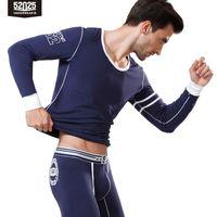 Мужское тепловое белье 52025 Preppy Style Light Cotton Modal Long Johns Sport для мужчин