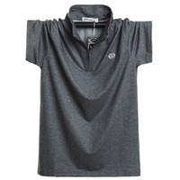 Grande polo camicia da ingrasso e mens manica corta Tshirt cerniera Risvolto Chao versione coreana per il tempo libero uomo grasso Tshirt 8899