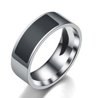 acero inoxidable de la joyería anillos de banda de etiquetas inteligentes NFC teléfono móvil de anillos clásico de la moda caliente unisex