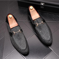 New Luxury British Style Designer Men Shoes Fashion Black Su...