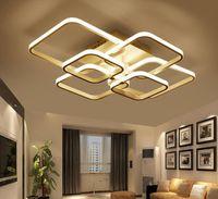 Quadrado Circel Anéis Luzes de Teto Para Sala de estar Quarto Casa AC85-265V Modernos Led Luminárias de Teto lustre plafonnier