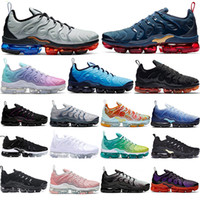 Nike Air Vapormax Tn Plus vapors !Luft! All Black Gold Tn Plus-Dämpfe Laufschuhe Arbeit Blau Gradient Grape Maxess Metallic Silver Tns Sports Turnschuh-Mann-Frauen-Trainer
