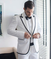 Groom Tuxedos Groomsmen Peak Lapel New Style One Button Men ...