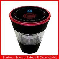 Cachorro Eletrônico Starbuzz Starbuzz Square E Cabeça Kit Ehookah Ehead Vaporizador 2400mAh E -Cig 1000-1500 Puffs Vape E-Cigarros
