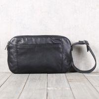 Baotou tabakası sığır derisi gündelik taşıma çantası Tasarımcı-BJYL Erkek el yapımı deri deri çanta tek omuz eğik çapraz eli