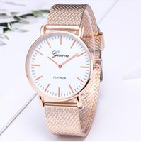 Women Stainless Steel Watches Bracelet Ladies Gold Watches R...