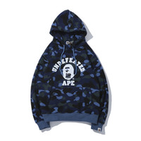 Herbst Winter Liebhaber Lila Blau Camo Fleece Pullover Hoodies Teenager Casual Camo Print Pullover Mit Kapuze Hoodies Tops