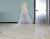 Real Image Bling Bling Cathedral Veils Bead Two Layers Custo...