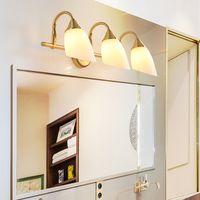 specchio europeo di lusso di rame lampade montare apparecchi di illuminazione nobile da parete lampade luci specchio led per camera da letto bagno comodino sala trucco