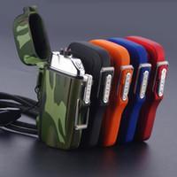 Yeni Renkli Su Geçirmez USB Çift ARC Çakmak Fener Meşale Taşınabilir Sling Halat Sigara Bong Için Yenilikçi Tasarım Sigara Boru aracı