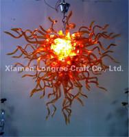 Бесплатная доставка Top Design Янтарный стекла Подвеска Лампы Декор отеля выдувное стекло висячие Art Люстра на продажу