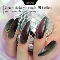 9D Galaxy Cat Eyes geführte Gel-Nagellack Chamäleon Magnetic UV Nagellack-Nagel-Kunst-glänzendes Gel Need Black Base Coat