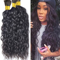 Trecce per capelli umani brasiliani Bulk onda di acqua naturale Numero di trama Bagnato e ondulato Micro Mini intrecciatura per capelli Bulk