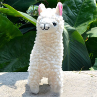 Lovely 23cm White Alpaca Llama Plush Toy Doll Animal Stuffed...