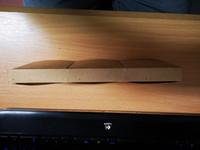 Бумага Kraft подгонянная с клейкой лентой на задней стороне 24. 5x2cm коричневая бумага отсутствие карточки печатания цвета 350gsm для упаковывая коробок