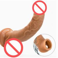 Juguetes sexuales para hombres Ampliación de silicona Manga del pene Artículos íntimos Extensiones de pene Anillos de gallo Consolador Masculino Castidad Juguetes adultos
