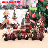 2020 New Christmas Santa Claus Snowman Reindeer Plush Dolls ...