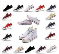 Vendita di fabbrica Prezzi bassi Scarpe casual da donna high-top unisex Top stelle basse Scarpe da ginnastica classiche da uomo in tela / da donna