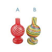 UNILANDTUBING US Colorful Glass, Bubble Carb Caps Domeless Pour Quartz Bangers Verre Pipes eau Dab Rigs eau Bangs