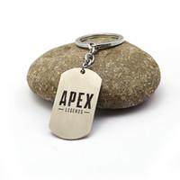Oyun APEX LEGENDS Apex Anahtarlık Paslanmaz Çelik Metal Kolye Kolye Boncuk Zincir Gerdanlık Anahtarlık Takı Mens