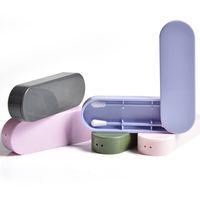 2PCS / صندوق قابلة لإعادة الاستخدام القطن المسحة الأذن تنظيف سيليكون قابل للغسل ماكياج مسحات العصي لينة مرنة المكياج مجموعة أدوات