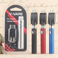 V-VAPE préchauffer la batterie 650mAh stylo vape VV préchauffer les batteries Kit de chargeur de tension variable Fit 510 fil Vaporisateur Cartouche Clearomizer