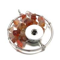 Collar de cristal Árbol Luwelleve intercambiable turquesa jengibre 276 Fit 12mm 18mm botón rápido colgante de collar del encanto de la joyería para el regalo de las mujeres