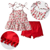 Summer Kids Baby Girl Flower Princess Sunsuit Clothes Set To...