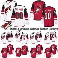 PHOENIX ARIZONA COYOTES Jersey 23 Oliver Ekman-Larsson 81 Phil Kessel 16 Max Domi Custom Any Name Any Number Hockey Jerseys
