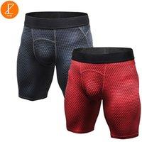 Mens 2 pack di compressione Pantaloncini da corsa Bodybuilding Ezsskj Boys Sports Underwear Bottoms fitness Elasticità Collant Small Medium