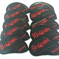 도매 골프 아이언 헤드 커버 고품질 혼마 골프 헤드 커버 빨간색 또는 노란색 아이언 클럽 헤드 커버 골프 클럽 용품 무료 배송