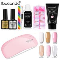 Poly Gel Kit 6W Sunmini UV LED Lamp Nail Builder Gel Varnish Polish Polygel Quick Nail Extension Hard Solution Art Set