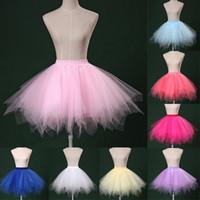 미니 길이 여성 Tutu Tulle Skirts 2019 PRIT 파티 드레스 소녀 공 가운 층 랭커 키트 크리노린 18 색 CPA782