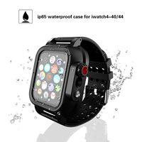 Weiche Silikon-Band mit wasserdichtem Fall für Apple-Uhr iWatch Serie 4 Breath Strap Built-in-Schirm-Schutz Robuste Abdeckung Uhrenarmbänder