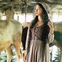 Women Vintage Pastoral Dress Medieval Rural Style Farm Maid ...