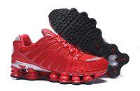 Air Shox TL Nouvelle expédition gratuite TL Basketball Chaussures Hommes Sneakers athlétiques Noir Blanc Rouge Rouge Taille 40-46