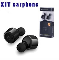Auricolare stereo X1T Bluetooth Wireless Headphones Earphones Vero a due canali auricolari con segreteria Prompt per smartphone iphone samsung Xiaomi