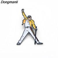 P3392 Dongmanli Freddie Mercury perni e spille in smalto per donna Uomo con risvolto, zaino, borse, cappello, distintivo, regali