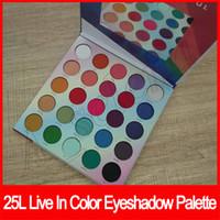 ماكياج العين 25L حي في اللون ماتي لوحة عينيه تجعل الحياة ملون 25 ظلال لون ظلال العيون لوحة ماتي وميض العين